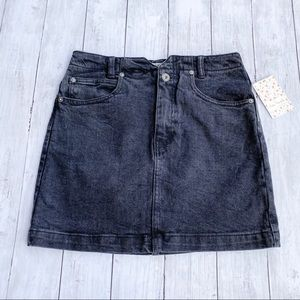 Free People She's All That Denim Mini Skirt 26